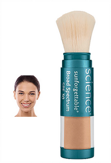 sunforgettable brush on sunscreen SPF 30- tan